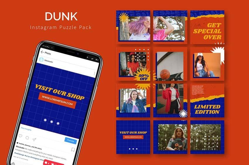 Dunk - Instagram Puzzle Template