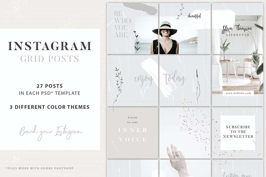 Instagram Grid Posts 3 Theme Template