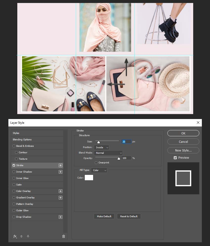 adding stroke layer style settings