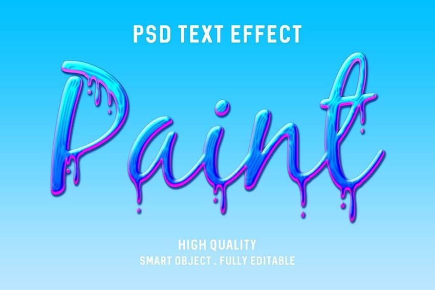 Paint Drip Text Effect