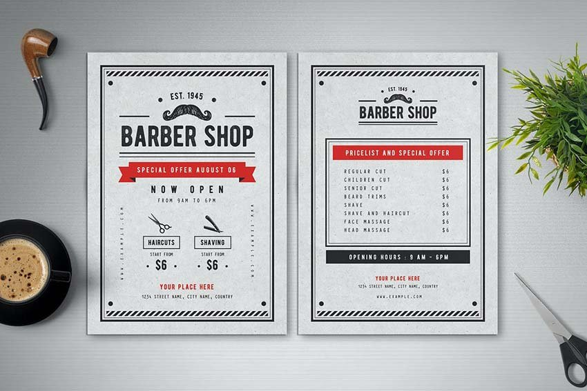 Barber Shop Flyer by Vynetta