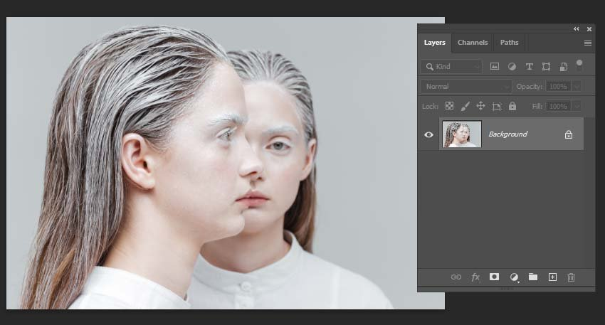 Opening an image in Photoshop