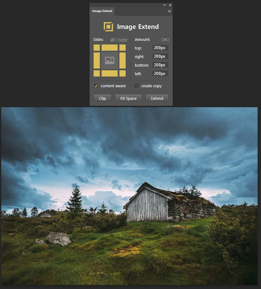 extended image result with addon