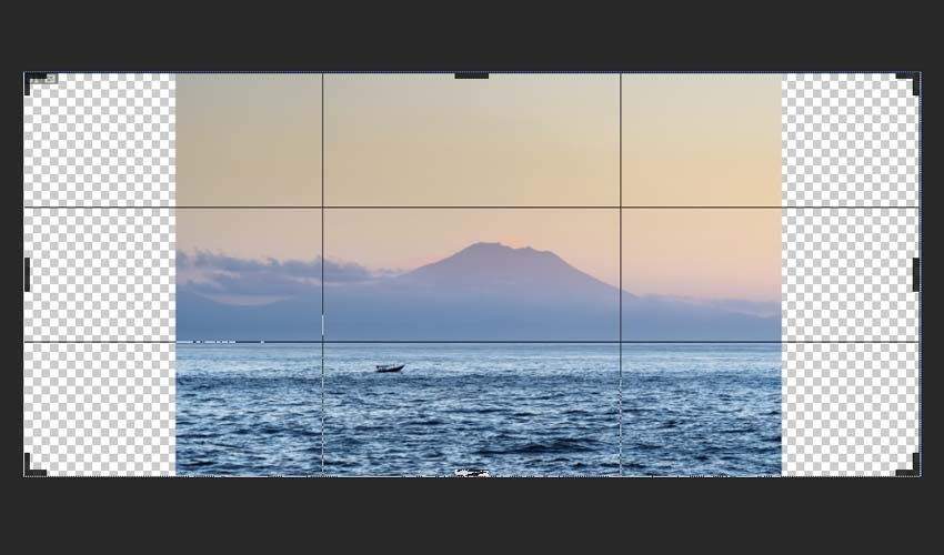 extending background in Photoshop with a crop tool