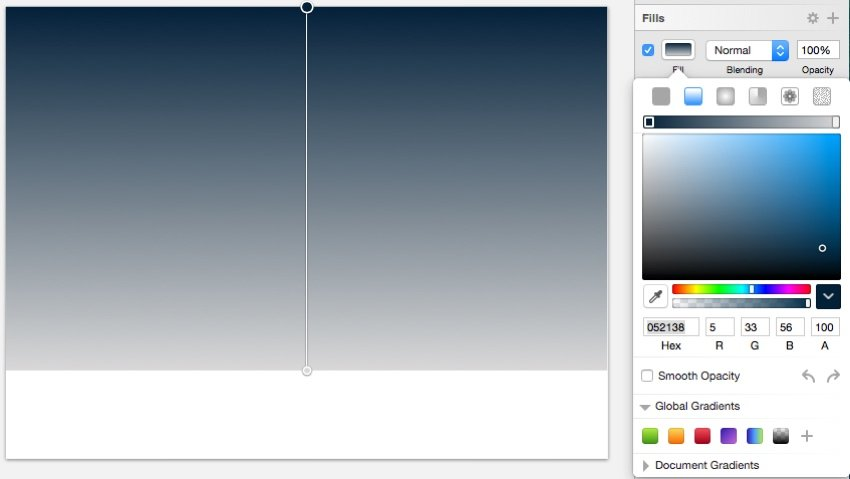 Change the top color in Gradient