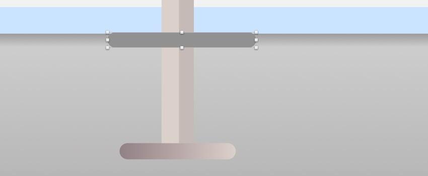 Bar stool leg rest - rectangle