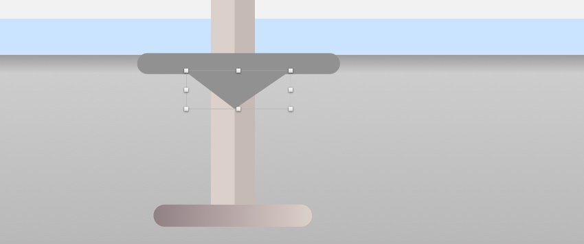 Bar stool leg rest - triangle