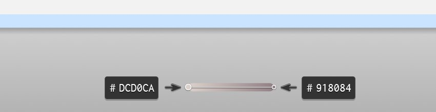 Bar table base gradient