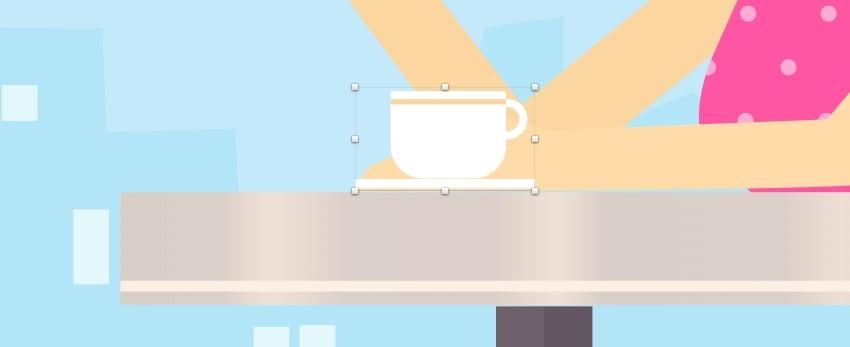 Cap of coffee - handle color