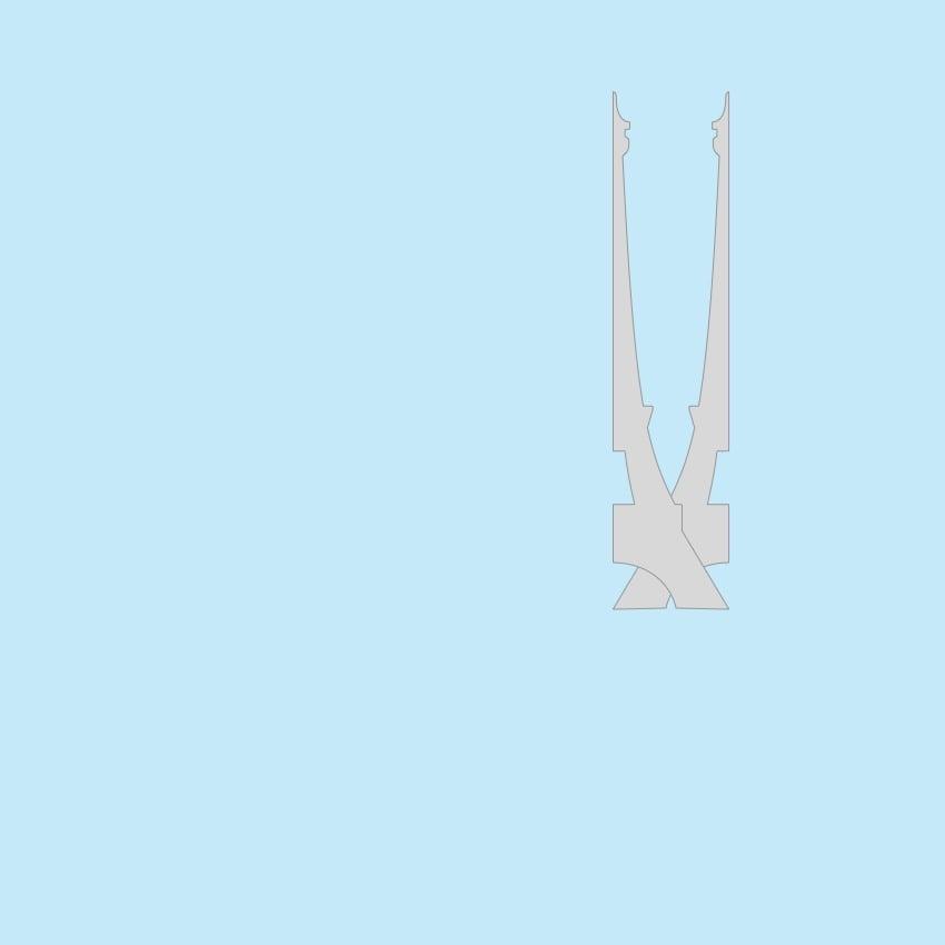 Eiffel Tower silhouette duplicate and flip horizontal