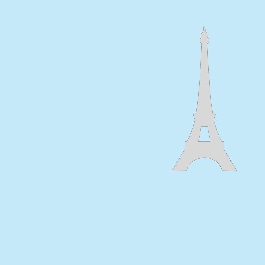 Eiffel Tower shapes - union