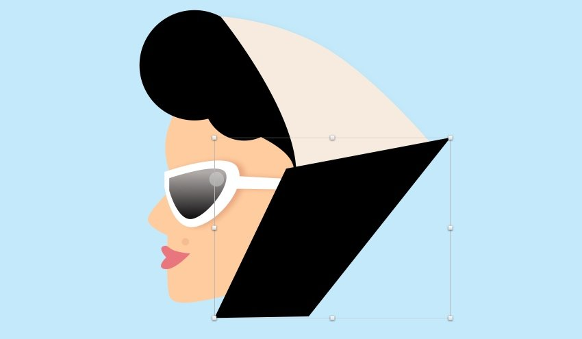 Girl - scarf black shape