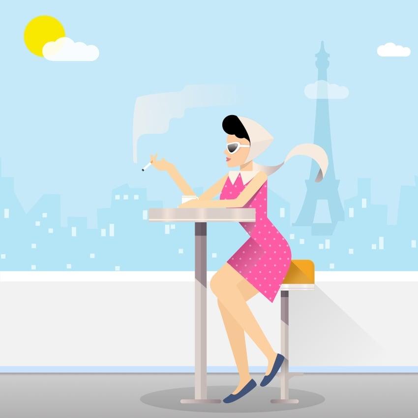 Paris lifestyle illustration final