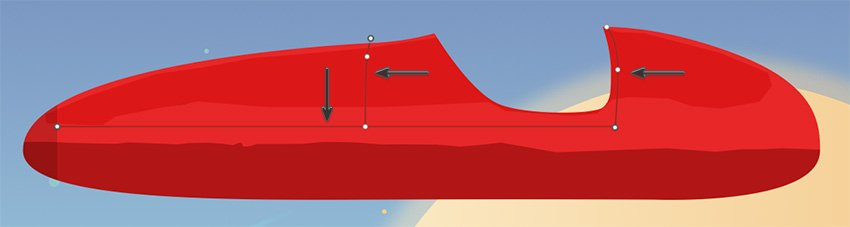 Hovercar details - lines
