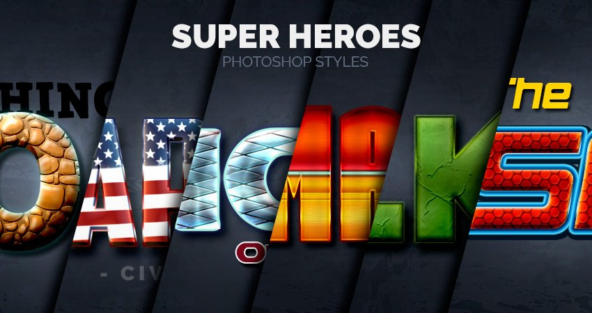 Super Heroes Styles Preview Image