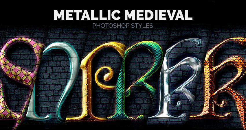 Metallic Medieval - Photoshop Styles