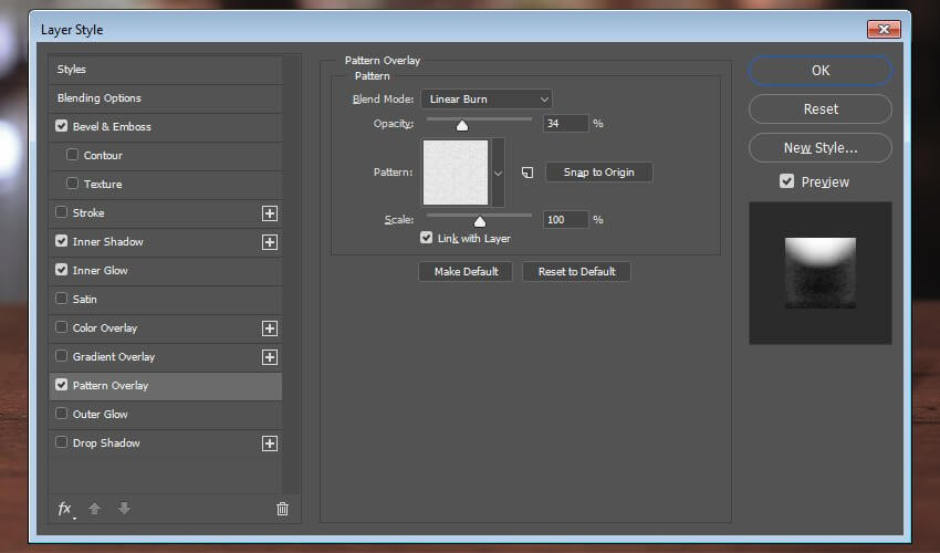Add a pattern overlay