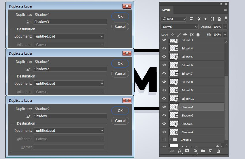Duplicate shadow layer