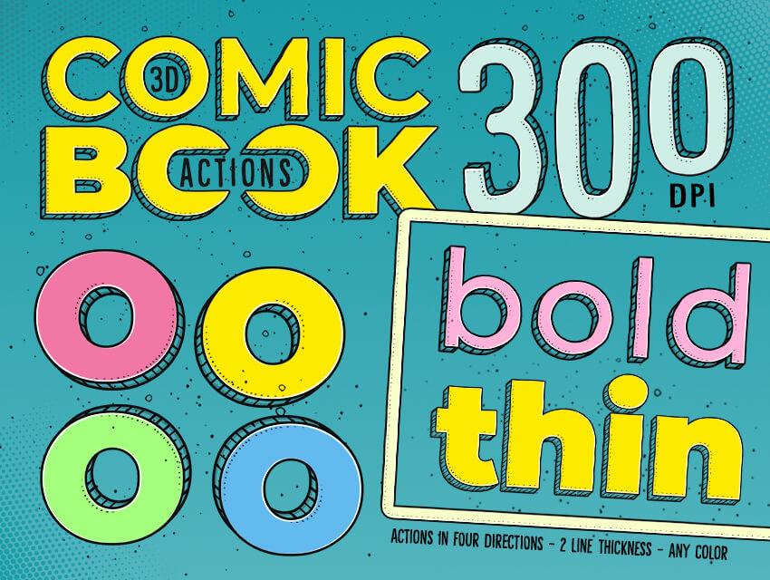 3D Comic Book Actions