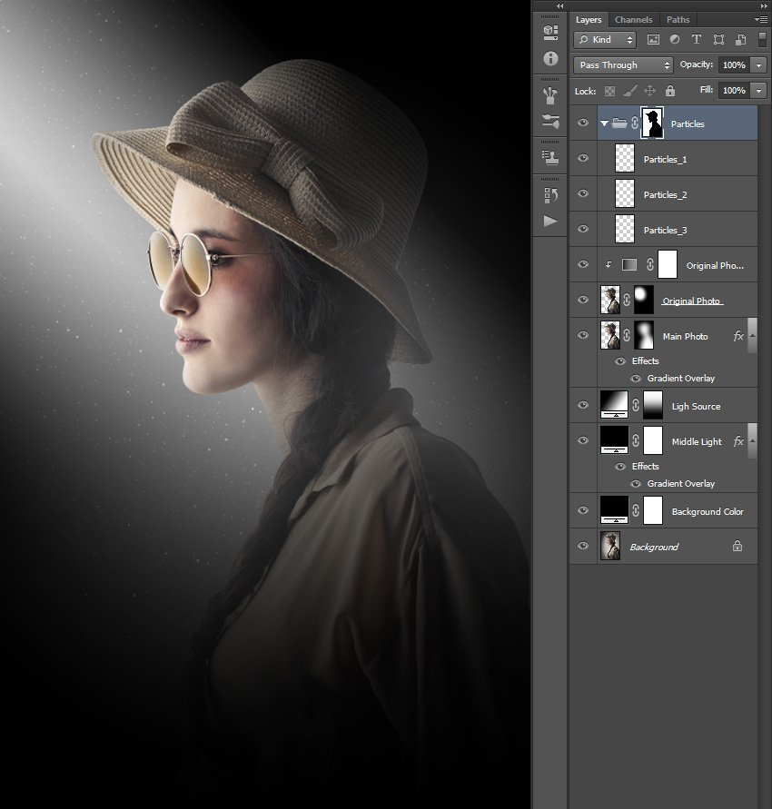 Creating layer mask using subject selection