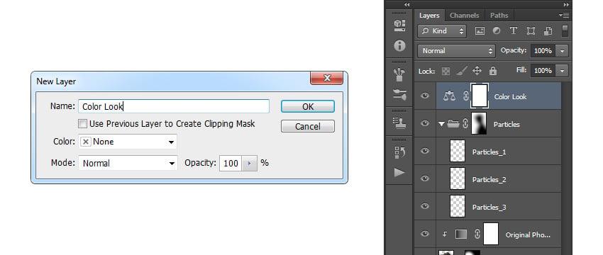 Creating new color balance adjustment layer
