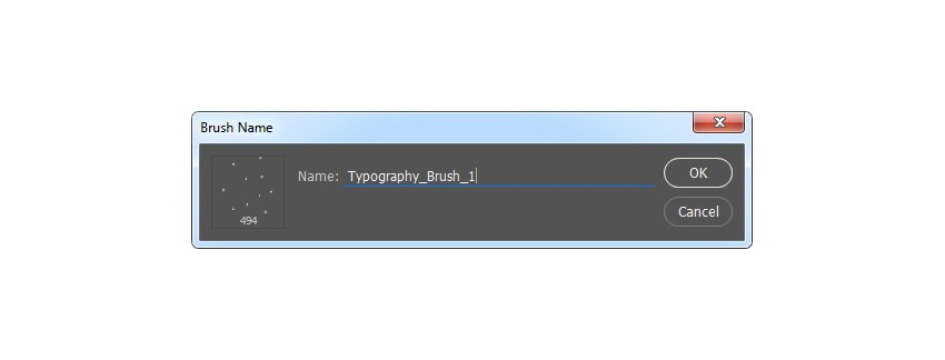 Defining brush named Typography_Brush_1