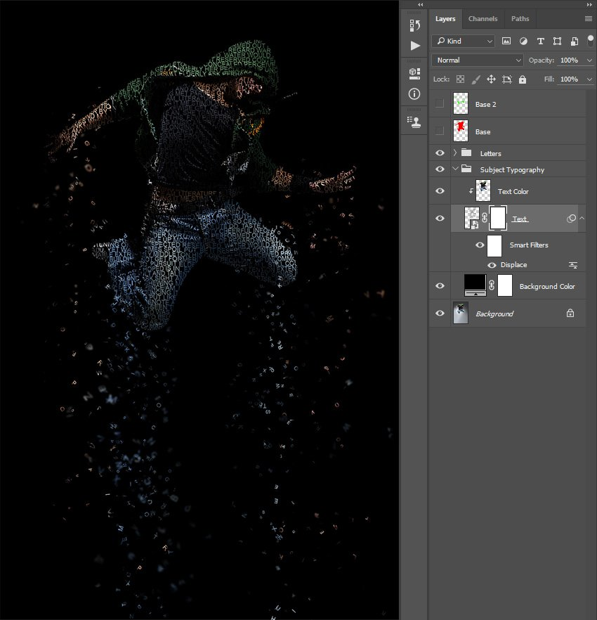 Making layer mask to Text layer