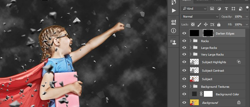 Adding layer mask and unlinking it