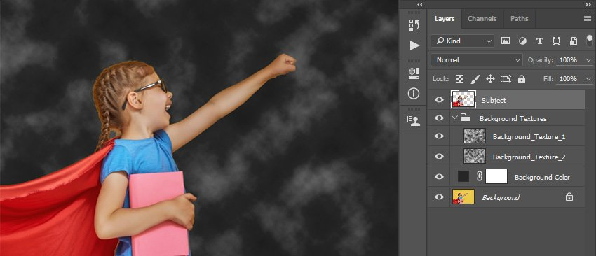 Applying layer mask of the Subject layer