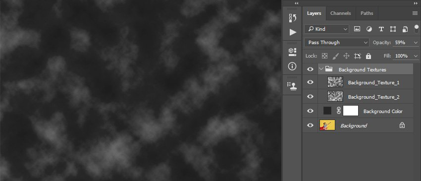 Changing opacity of the Background Textures group