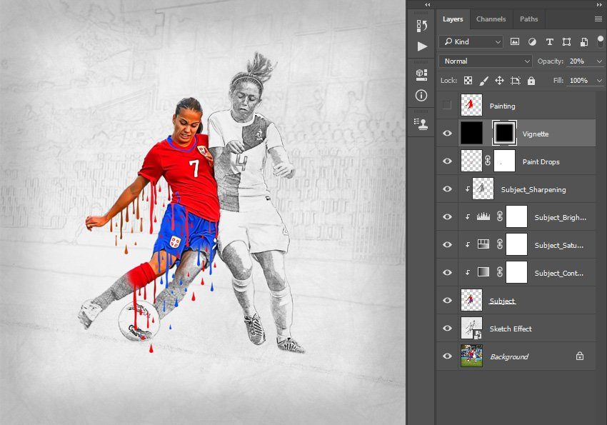 Changing opacity of the layer