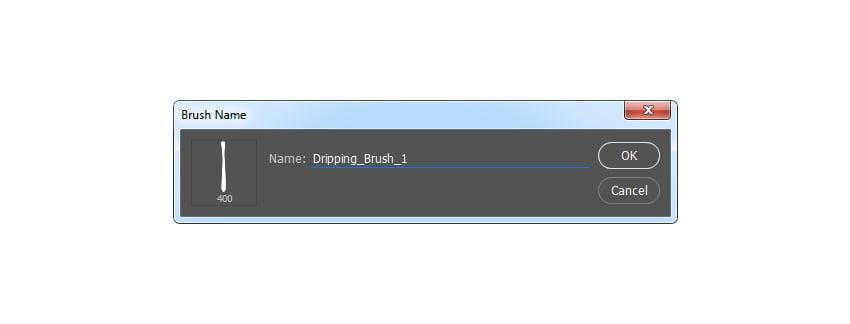 Defining dripping brush