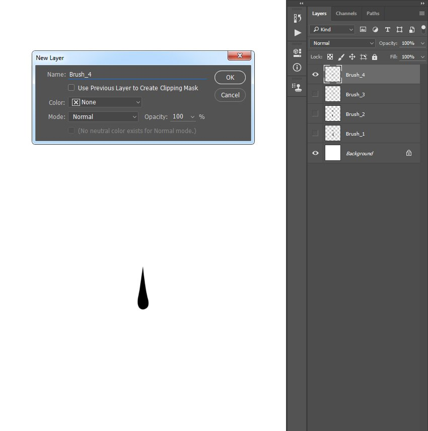 Drawing dripping shape
