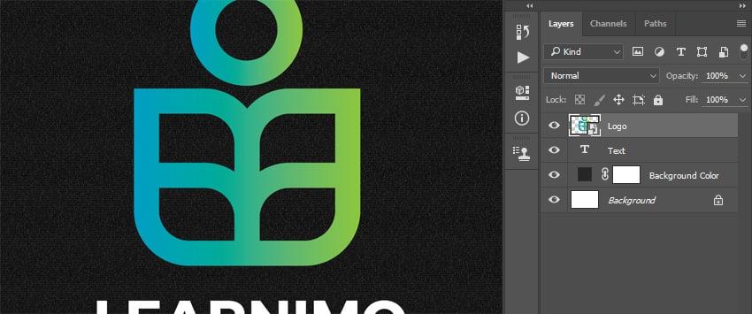 Aligning logo