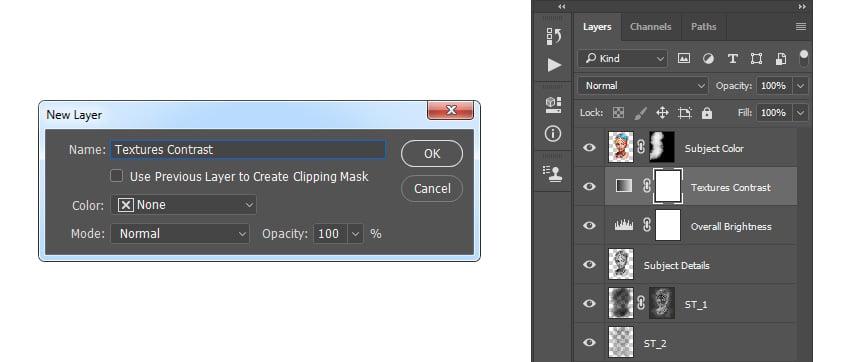 Creating new gradient map adjustment layer