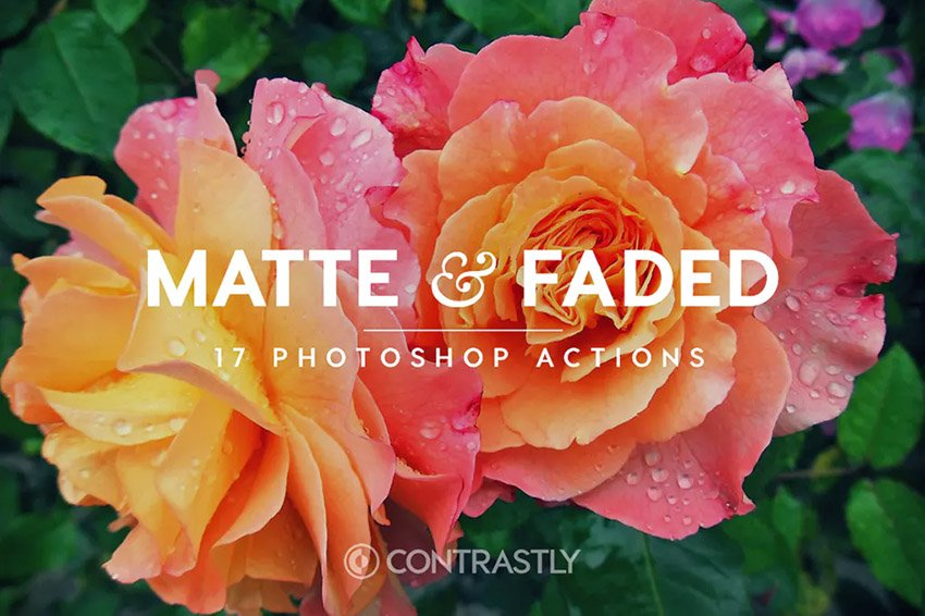 Matte  Faded Photoshop Actions