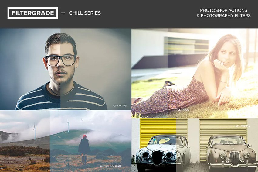 FilterGrade Chill Series Photoshop Actions