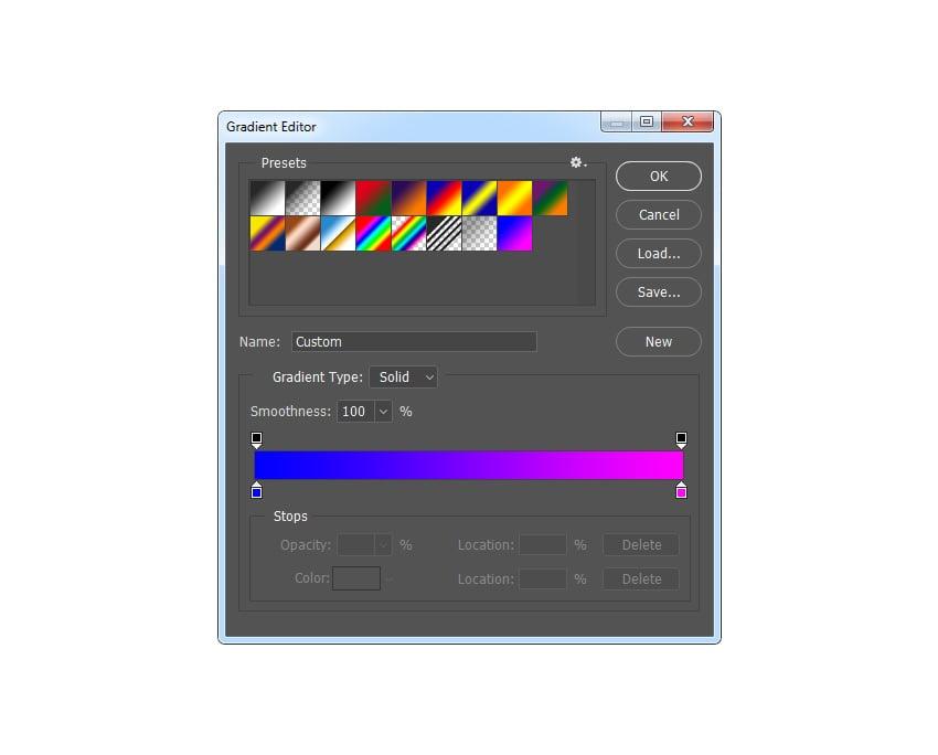 Vaporwave Cyberpunk Graphic Design Tutorial adjusting cyberpunk colors gradient map