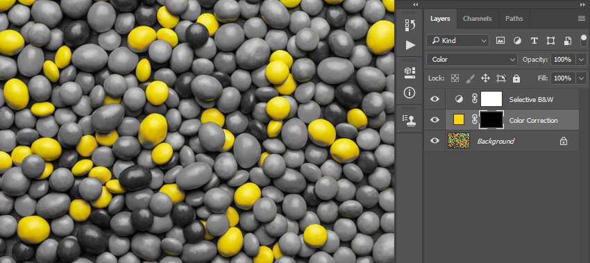 changing blending mode and inverting layer mask
