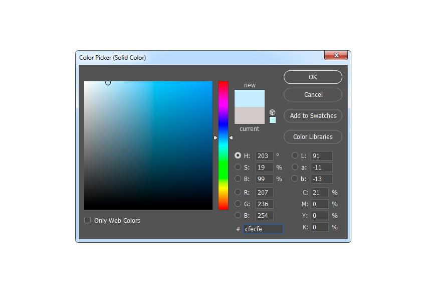 adjusting solid color