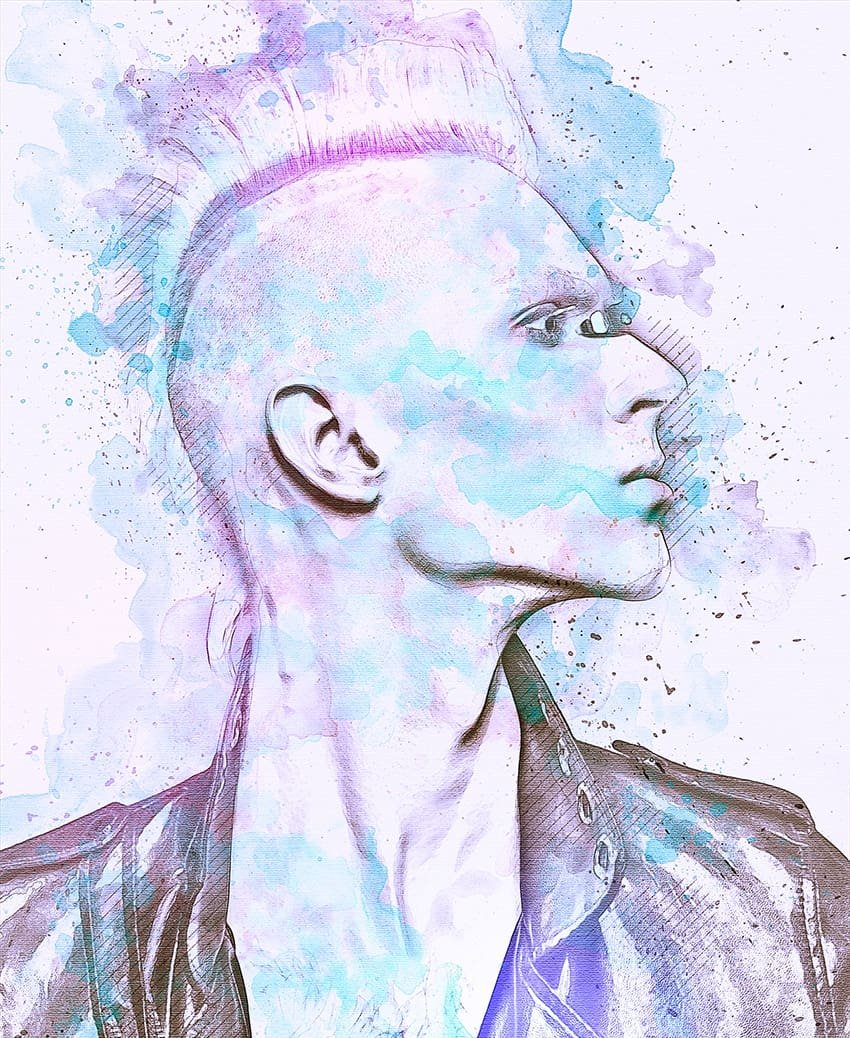 Abstract Watercolor Effect Photoshop Action