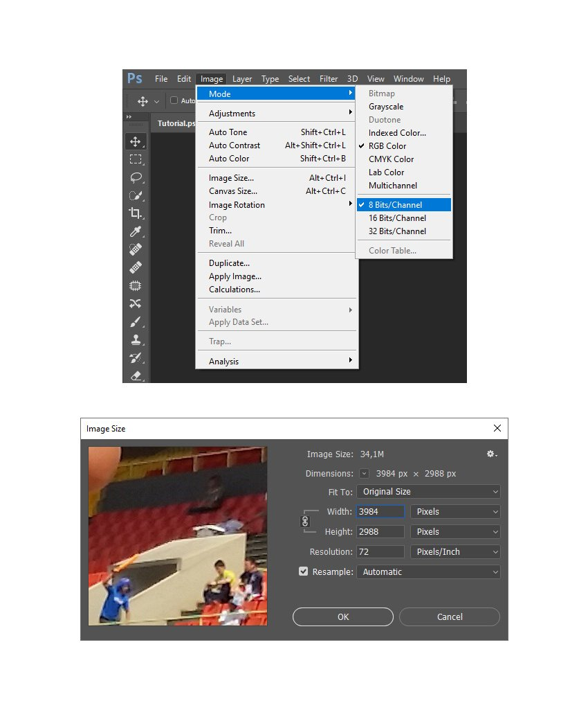checking image mode and size
