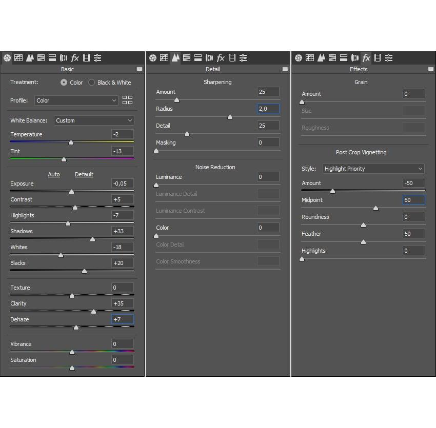 adding camera raw filter
