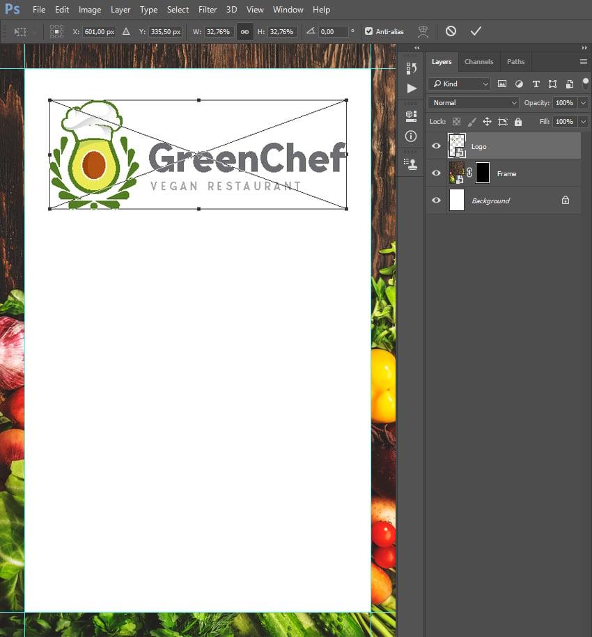 placing logo template