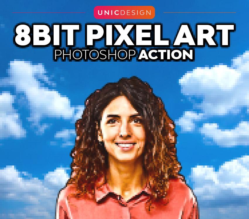 8 bit pixel art photoshop action