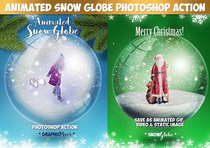 Animated Snow Globe Photoshop Action