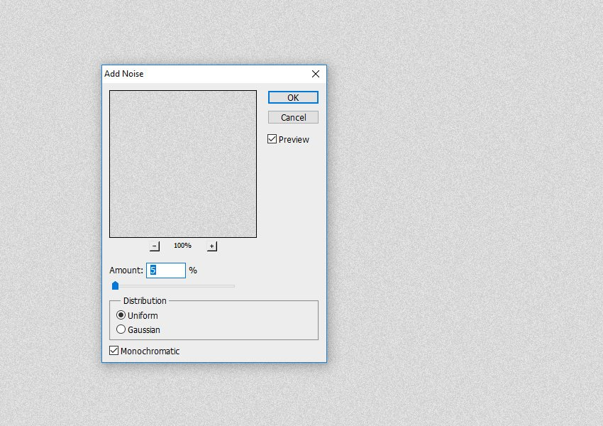 Filter Noise Add Noise in Photoshop