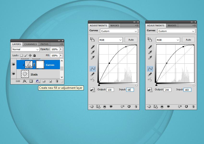 Add Curves Adjustment Layer
