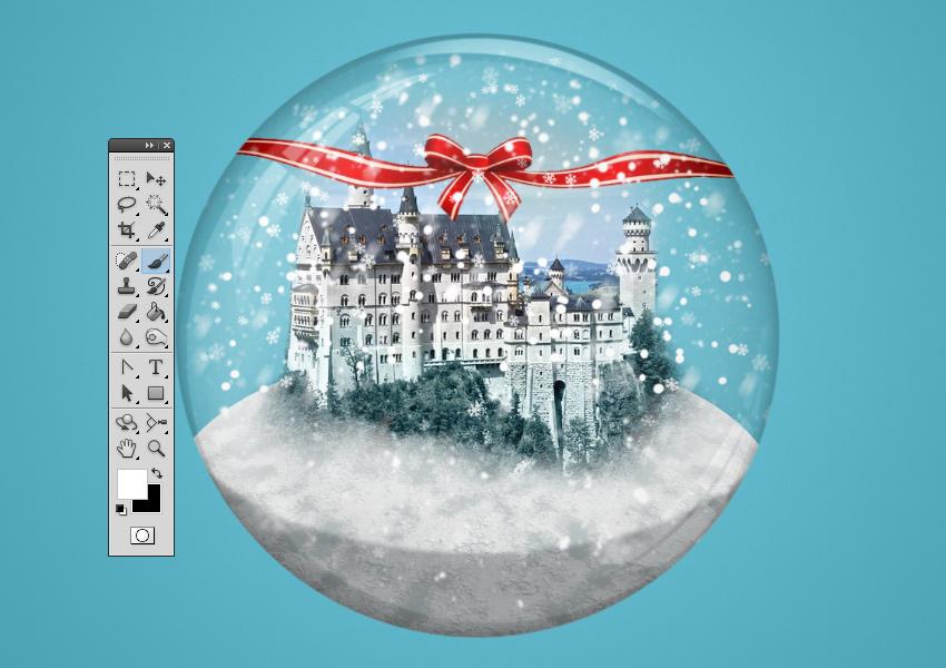 Add Snowflake Photoshop Brushes