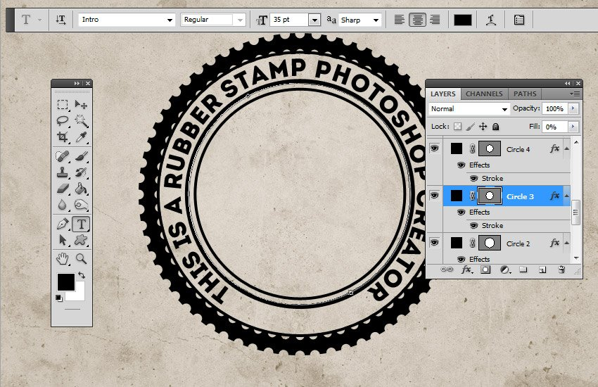 Add Text on Path in Photoshop
